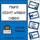 Fry's Sight Words Cards - Animals Themed (second hundred)