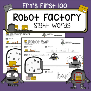 Fry's Sight Words First 100 Words - Sight Word of the Day - NO PREP