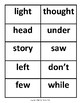 Fry's Sight Words Flash Cards #201-300