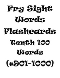 Fry's Sight Words Flash Cards (#901-1000)