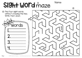 Fry's Sight Words - High frequency word practice - read and write - NO PREP