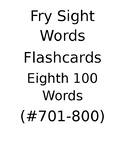 Fry's Sight Words Flash Cards (#701-800)