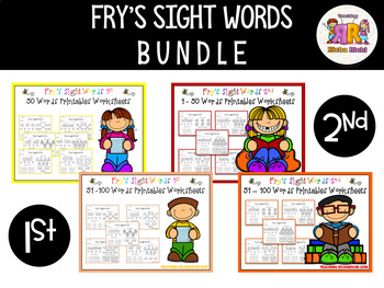 Fry's Sight Words Printables Worksheets MEGA BUNDLE