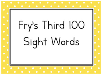 Fry's Third 100 Flash Cards