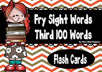 Fry's Third 100 Sight Words Flash Cards