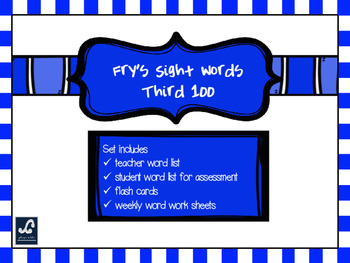 Fry's Third 100 Weekly Sight Word Work