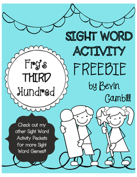 Fry's Third Hundred Sight Word Activity FREEBIE