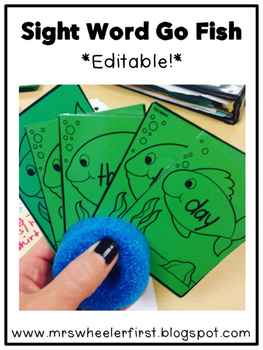 First Grade Sight Words: Go Fish Game