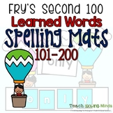 Fry's Words Spelling Mats Second 100