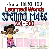 Fry's Words Spelling Mats Third 100