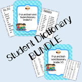 Fry's and Dolch Word Student Dictionary Grades K-2 & 3-5 BUNDLE