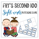 Fry second 100 sight word matching game