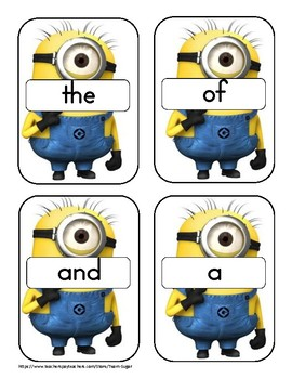 Fry sight words with Minions