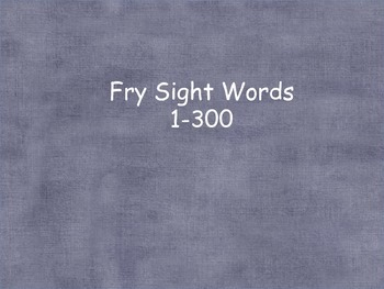Fry word cards for word wall (1-300)