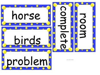 Fry word cards for word wall (301-600)