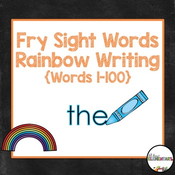 Fry words 1-100 Rainbow Writing
