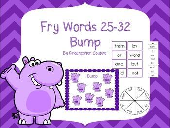 Fry words 25- 32  Bump