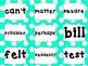 Fry words list 6 teal polka dot med size.