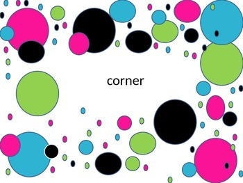 Fry words sight word flashcards 9th hundred with neon polka dot background