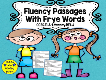 Frye Words Fluency Passages