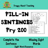 Fry's 2nd 100 Fill-In Sentences