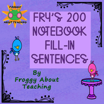 Frye's Second 100 Sight Words Growing Packet