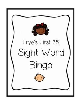 Frye's Sight Words BINGO Game