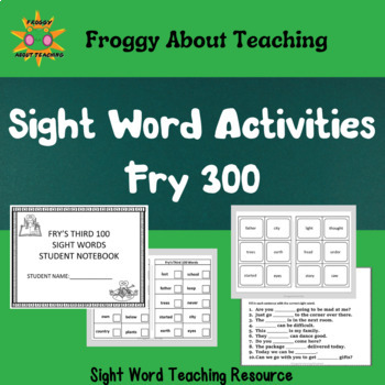 Fry's 3rd 100 Sight Words Packet