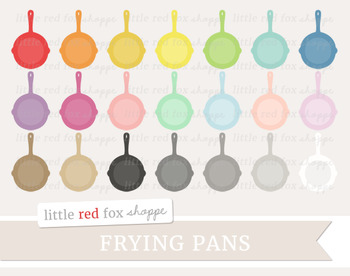 Frying Pan Clipart; Kitchen, Cooking, Skillet