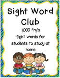 Frys 1,000 Sight Word Club