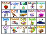 Fry's 100 Picture Nouns (Voc. Words) Study Mats (20 Words