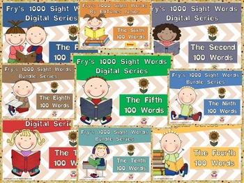 Fry's 1000 Digital Sight Words Super Bundle by EdTunes Jr.