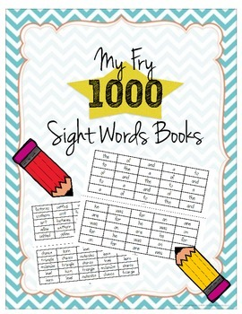 Fry's 1000 Sight Words Books (All ten books!)