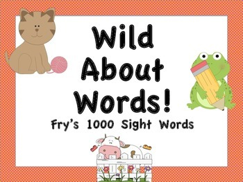 Fry's 1000 Sight Words Posters (Animal Theme)