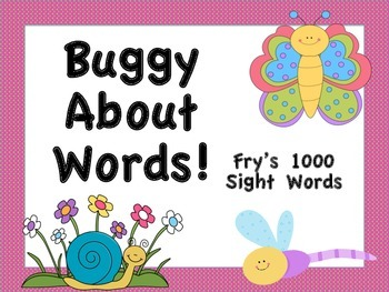 Fry's 1000 Sight Words Posters (Bug Theme)