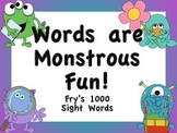 Fry's 1000 Sight Words Posters (Monster Theme)