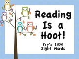 Fry's 1000 Sight Words Posters (Owl Theme)