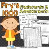 Sight Words Fry 1000 Word Pack with Flashcards/Word Wall and Assessments