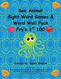 Fry's 1st 100 Ocean Themed Sight Word Games, Word Wall Pack, and More!