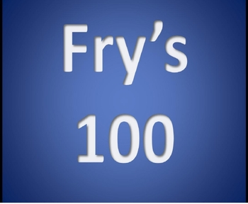 Fry's 1st 100 Sight Words Interactive PowerPoint