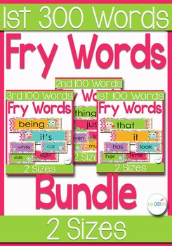 Fry's 300 Sight Words for Word Wall