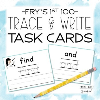 Fry's 1st 100 Trace & Write Cards
