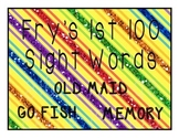Fry's 1st 100 Words - Card Games - Memory, Old Maid, & Go Fish