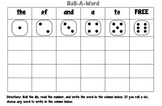 Fry's 1st 25 Roll A Word Sight Word Center