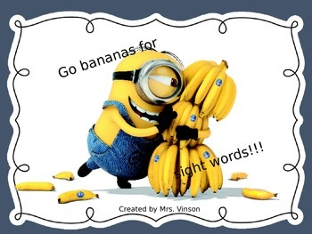 Fry's High Frequency Words 1st set PowerPoint- Minion 1st 25 Words