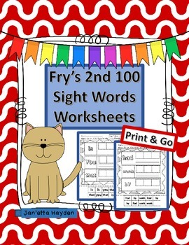 Fry's 2nd 100 Cut and Paste Worksheets