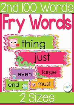 Fry's *2nd* 100 Sight Words for Word Wall