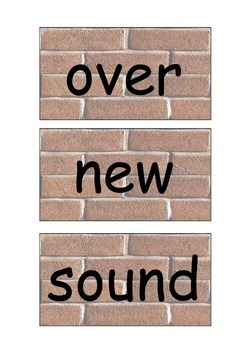 Fry's 2nd 100 brick style word wall