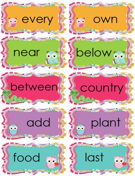 Fry's *3rd* 100 Sight Words for Word Wall