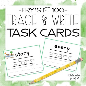 Fry's 3rd 100 Trace & Write Cards